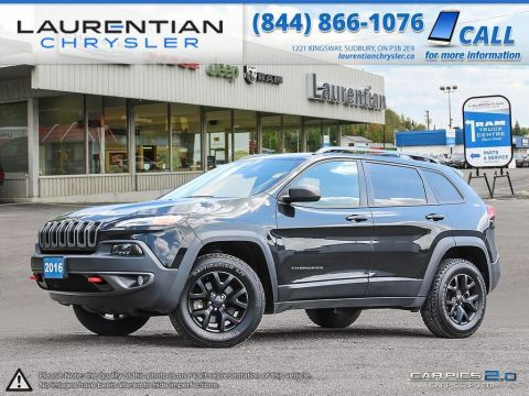 Pre-Owned 2016 Jeep Cherokee Trailhawk-LEATHER!! SELEC-TERRAIN!! BACKUP CAM!!