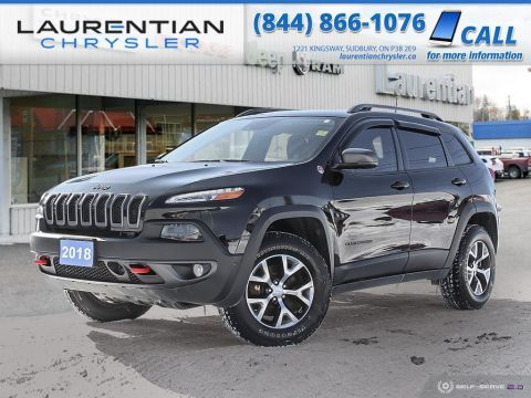 Pre-Owned 2018 Jeep Cherokee Trailhawk Leather Plus - 4x4, HEATED SEATS, BACK-UP CAM, NAV!!