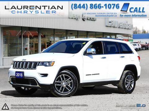 Pre-Owned 2018 Jeep Grand Cherokee Limited-4X4!!LEATHER!!BACKUP CAM!! BLUETOOTH!! HEATED WHEEL!! Four Wheel Drive Sport Utility