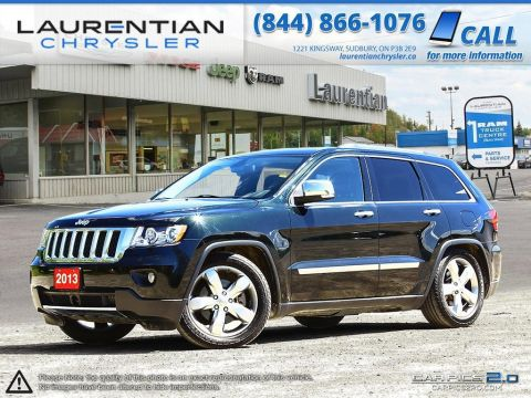 Pre-Owned 2013 Jeep Grand Cherokee Overland- 4X4!! NAVIGATION!! LEATHER!! SUNROOF!! With Navigation