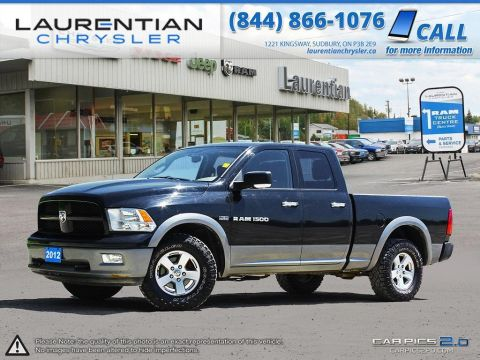 Pre-Owned 2012 Ram 1500 Outdoorsman- QUAD CAB!! V8!! 4X4!! 4WD