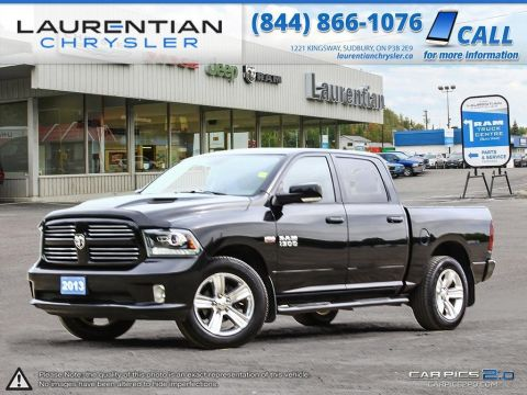 Pre-Owned 2013 Ram 1500 Sport- CLEAN CARPROOF!! LEATHER!! BLUETOOTH!! PWR FOLDING MIRRORS! 4WD