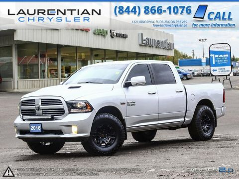 Pre-Owned 2016 Ram 1500 Sport- 2YEAR EXT WARRANTY!! LEATHER!! BLUETOOTH!! 4WD