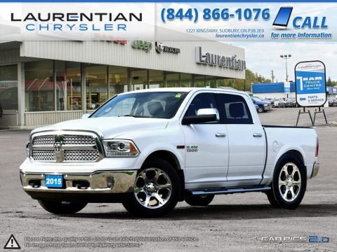 Pre-Owned 2015 Ram 1500 Laramie ECO-DIESEL-NAVIGATION!! LEATHER!! SUNROOF!! LOADED!!!! 4WD