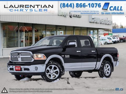 Pre-Owned 2013 Ram 1500 Laramie- LEATHER, BLUETOOTH, SUNROOF, NAV, HEATED SEATS!
