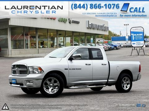 Pre-Owned 2011 Ram 1500 Laramie- LEATHER!! HEATED SEATS/WHEEL!! BLUETOOTH!! Four Wheel Drive Quad Cab Pickup