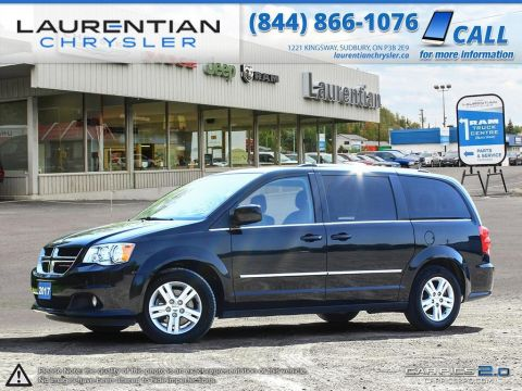 Pre-Owned 2017 Dodge Grand Caravan Crew Plus- LEATHER!! HEATED SEATS!! BLUETOOTH!!