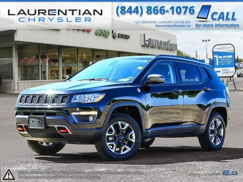 Pre-Owned 2017 Jeep Compass Trailhawk- NAVIGATION!! LEATHER!! BACKUP CAM! SELEC-TERRAIN!! 4WD
