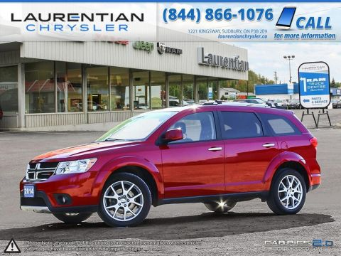 Pre-Owned 2014 Dodge Journey R/T- INC. 5YR/100K EXTENDED WARRANTY, LEATHER, BLUETOOTH, NAV! All Wheel Drive Sport Utility