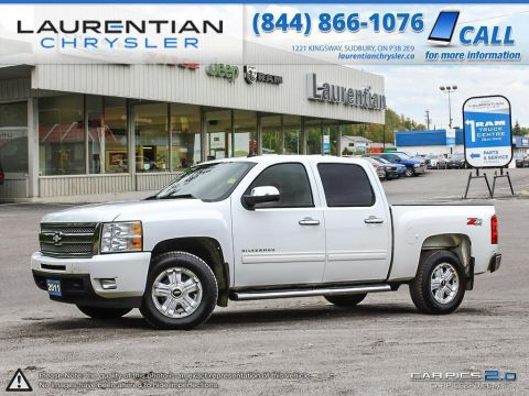 Pre-Owned 2011 Chevrolet Silverado 1500 LTZ- LEATHER!! SUNROOF!! BLUETOOTH!! Four Wheel Drive Crew Cab Pickup