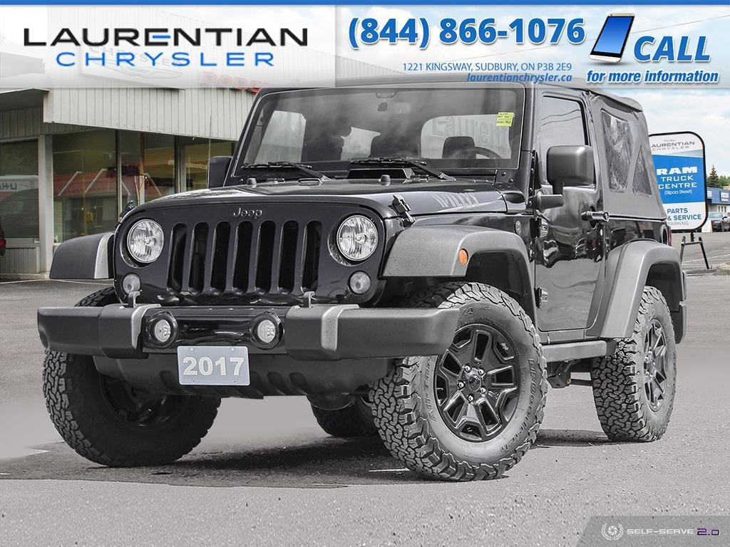Pre-Owned 2017 Jeep Wrangler Willys Wheeler - 6 SPEED MANUAL, BLUETOOTH, SOFT TOP!!!