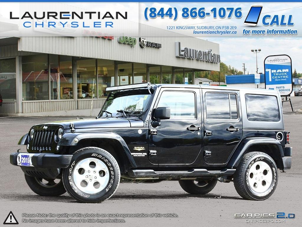 Pre Owned 2015 Jeep Wrangler Unlimited Sahara  SOFT TOP INCLUDED!
