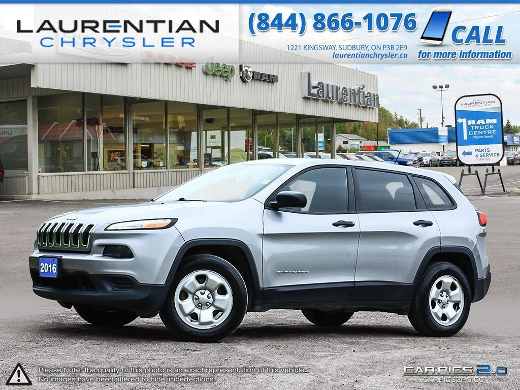 Pre-Owned 2016 Jeep Cherokee Sport- 4X4!! BLUETOOTH!! SELEC-TERRAIN!! TOW HITCH!!