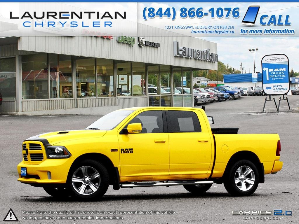 Pre-Owned 2016 Ram 1500 Sport- STINGER YELLOW!!! DEEZEE CROSSOVER TOOLBOX!! LEATHER!!