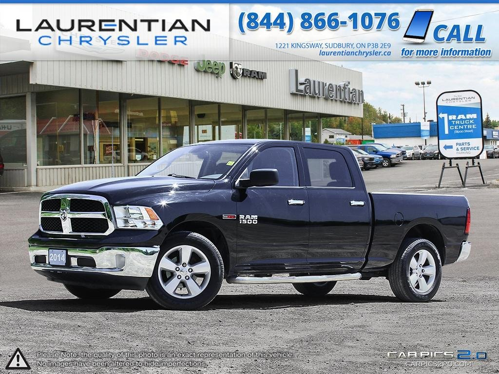 Pre-Owned 2014 Ram 1500 SLT- CREW CAB!! ECO-DIESEL!! BLUETOOTH!!