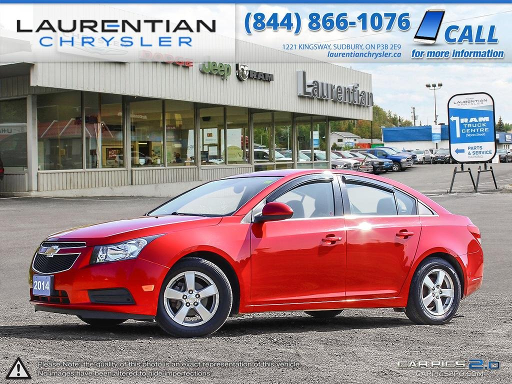 Pre-Owned 2014 Chevrolet Cruze 2LT- LEATHER!! BLUETOOTH!!! BACKUP CAM!!