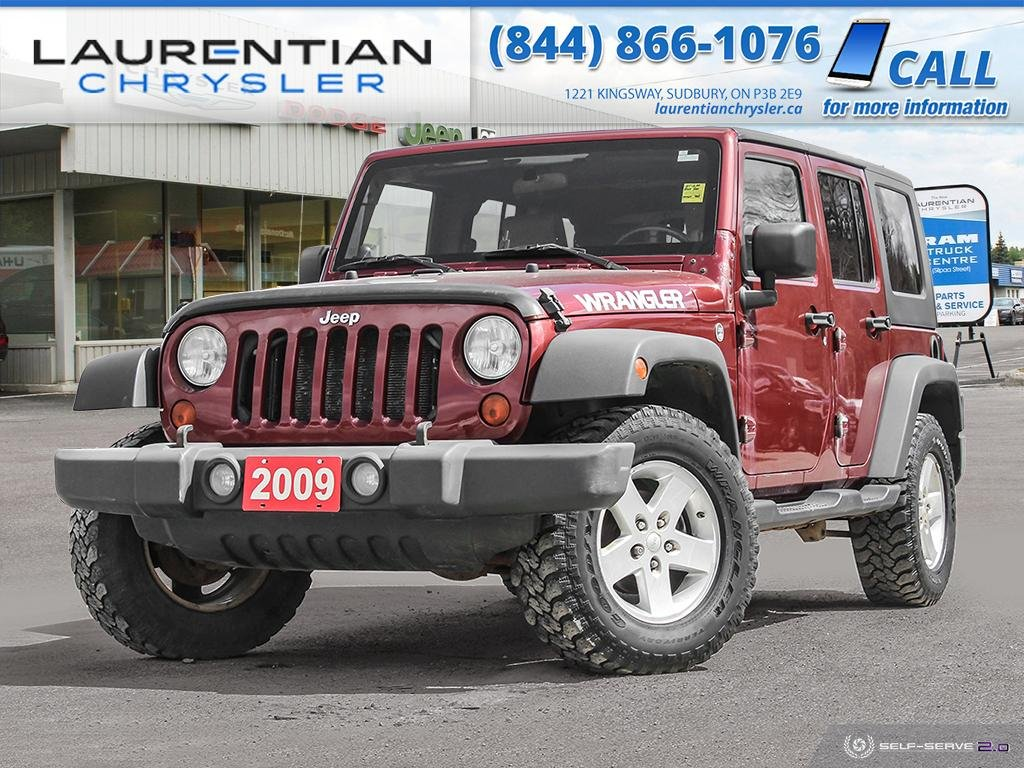 Pre-Owned 2009 Jeep Wrangler Unlimited X - BLUETOOTH, CERTIFIED!!!