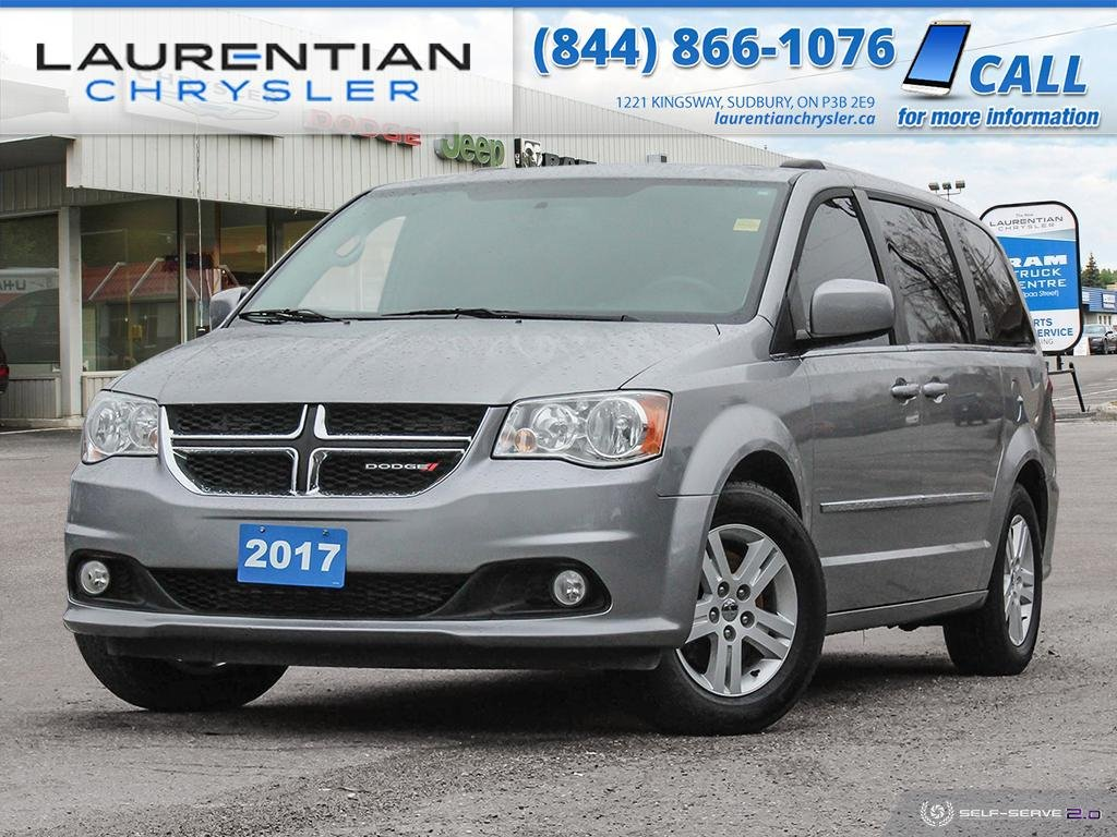 Pre-Owned 2017 Dodge Grand Caravan Crew - BACK-UP CAM, BLUETOOTH, LEATHER!!!