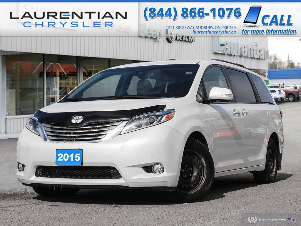 Pre-Owned 2015 Toyota Sienna XLE - LEATHER, DUAL SUNROOF, BACK-UP CAM, NAV, BLUETOOTH!!