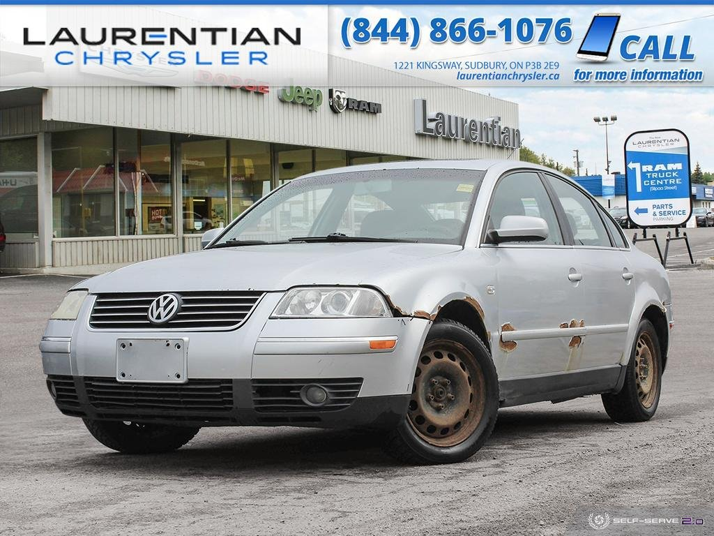 Pre-Owned 2003 Volkswagen Passat GLS - SUNROOF, HEATED SEATS, 5-SPD MANUAL, SELF CERTIFY!!!