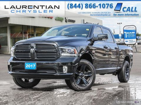 Pre-Owned 2017 Ram 1500 Sport - CREW CAB LONG BOX, HEATED SEATS, BACK-UP CAM, BLUETOOTH!!!