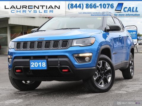 Pre-Owned 2018 Jeep Compass Trailhawk - BACK-UP CAM, BLUETOOTH, HEATED SEATS!!