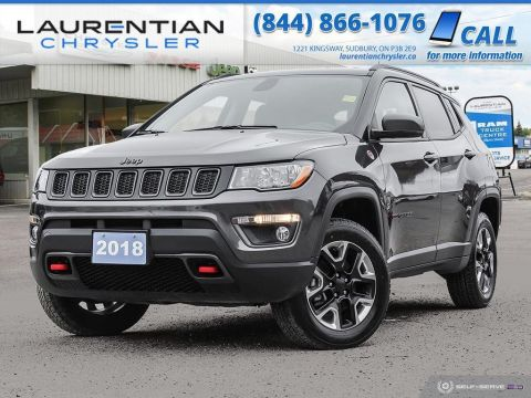 Pre-Owned 2018 Jeep Compass Trailhawk - 4X4, HEATED SEATS, BACK-UP CAM, NAV, BLUETOOTH!!!