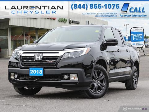 Pre-Owned 2018 Honda Ridgeline Sport - HEATED SEATS, BACK-UP CAM, SUNROOF, AWD!!!
